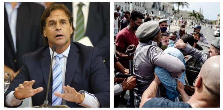 """Presidente de Uruguay emplaza a Díaz-Canel en México: """"Vemos con grave preocupación lo que ocurre en Cuba"""""""