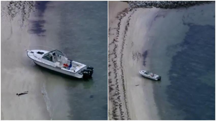 Varios inmigrantes escapan tras desembarcar en la costa de Virginia Key en Miami; la policía arresta a 4
