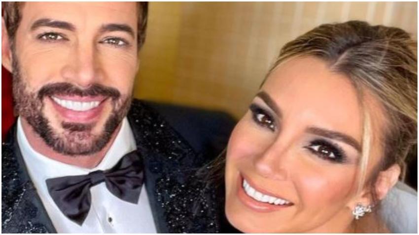 El cubano William Levy y Elizabeth Gutiérrez lucen su amor durante la gala de los Latin Billboard